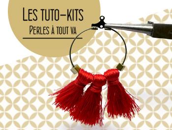 créer des boucles d'oreilles avec des pompons