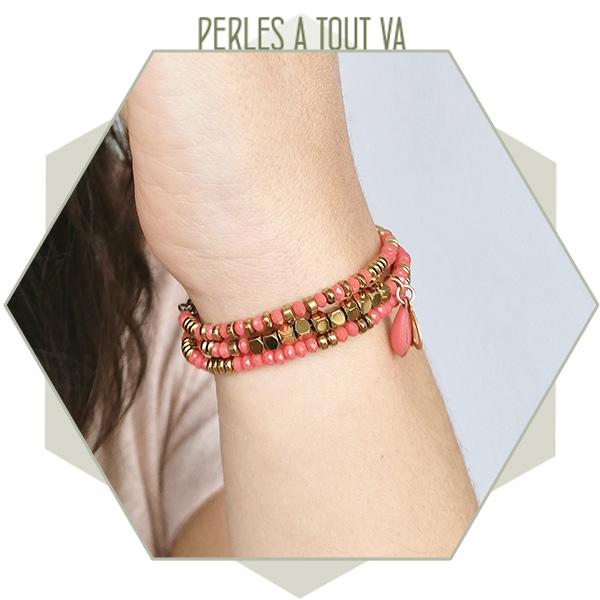 bracelet perles donut et hematite