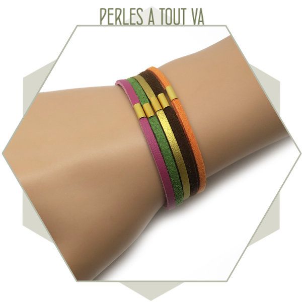 idée bracelet suédine