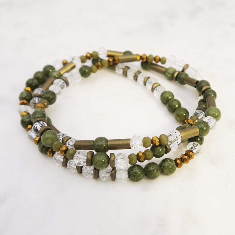 Modèle bracelets pierres naturelles
