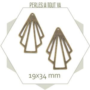 breloque éventails bronze