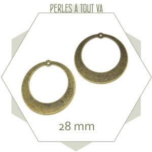 breloque créole bronze