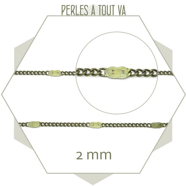 chaîne au mètre pour bijoux