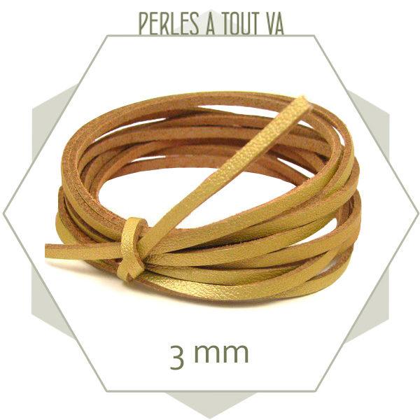 Matériel bijou cordon cuir or