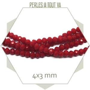 perles rouge en verre