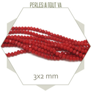 perles donut verre rouge