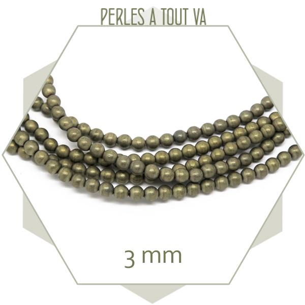 perles hématite ronde