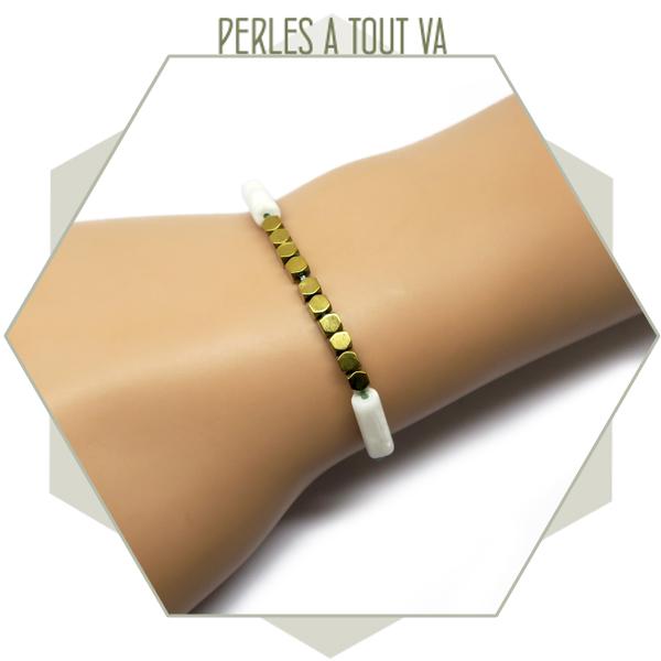 perles polygones hématite