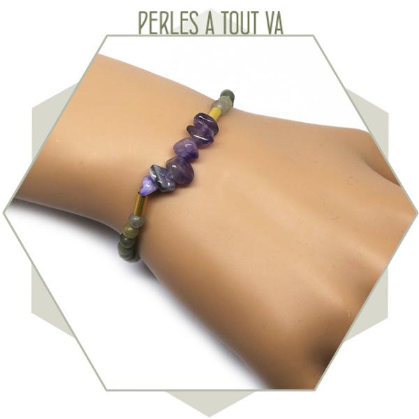 modèle bracelet perles quartz