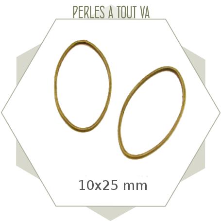 anneau ovale pour bijoux