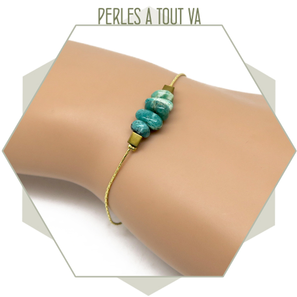 modèle bracelet perles agate