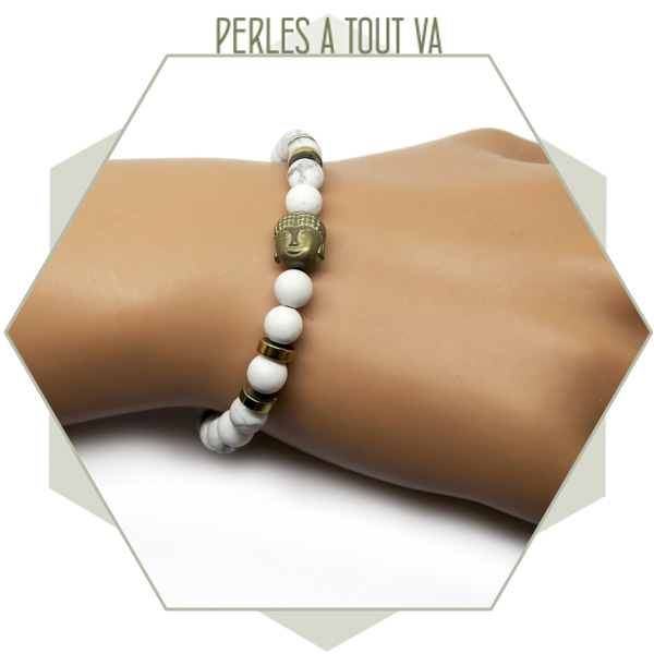 modèle bracelet perles howlite