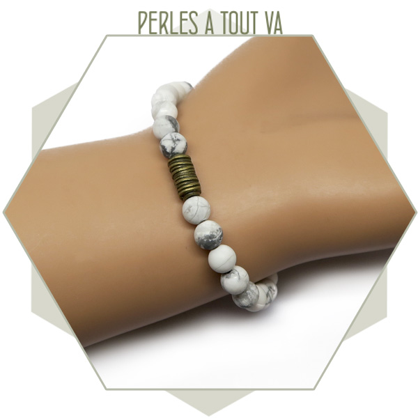 idée bracelet perles howlite