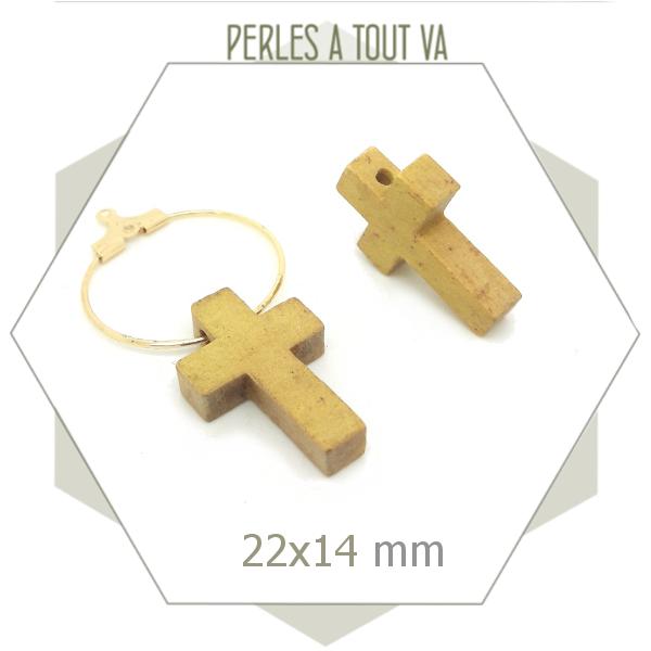 vente perles bois croix