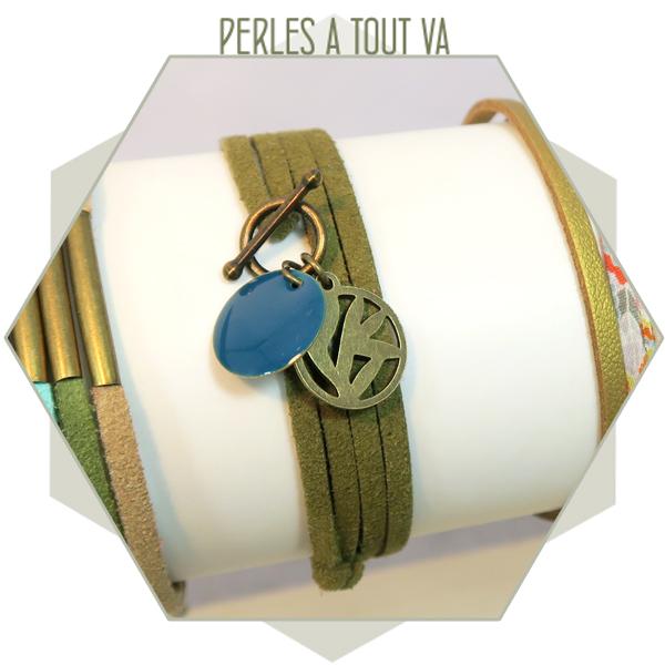 Idée bijou bracelet suédine