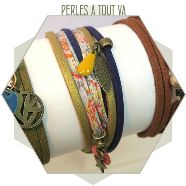 Création bracelet suédine