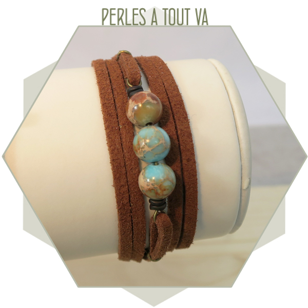 Idée création bracelet suédine DIY