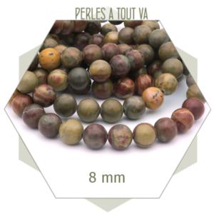 perles en jaspe pour bijoux