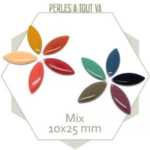 Mix sequins émaillés navettes colorés