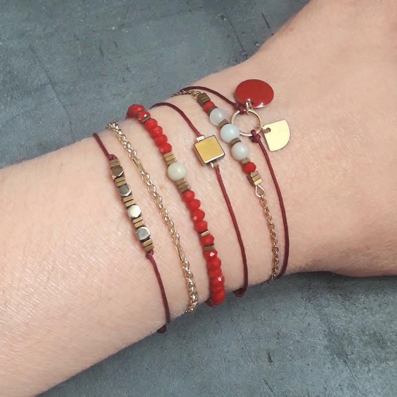 création fins bracelets cordons