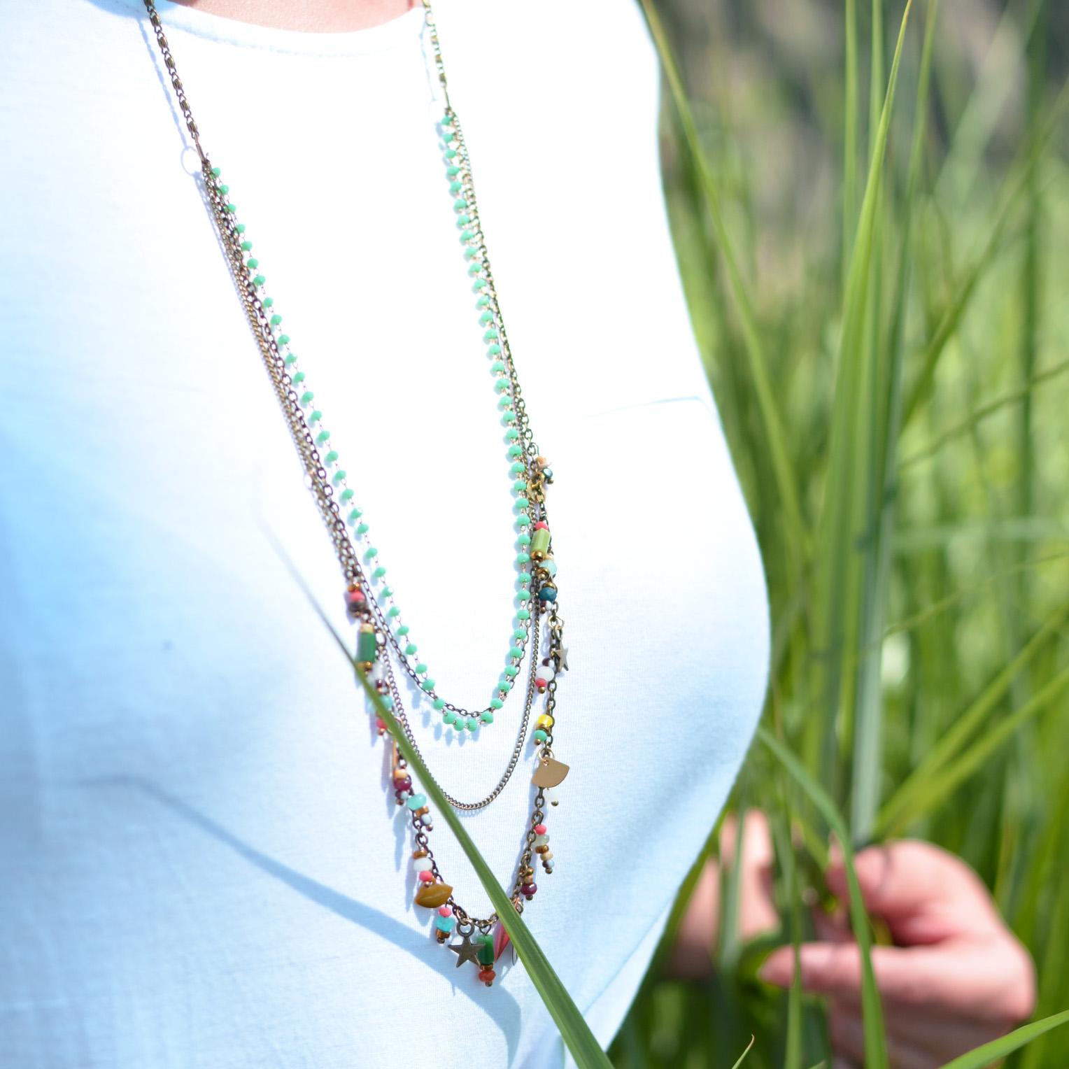 Sautoir DIY chaine perles