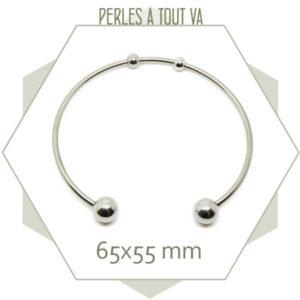 2 bracelets torque en acier inox
