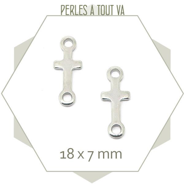 6 connecteurs croix en acier inox