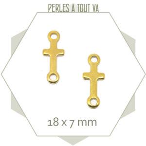 4 connecteurs croix en acier doré