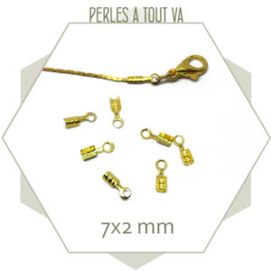 80 embouts de cordons 1 mm dorés
