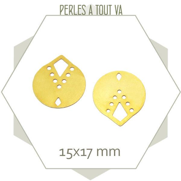 8 breloques rondes indiana couleur doré