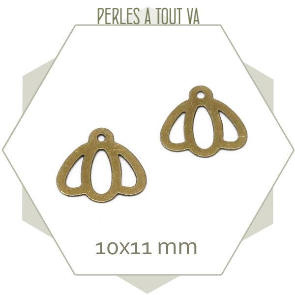 15 breloques clochettes, couleur bronze
