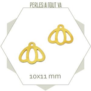 15 breloques clochettes dorées mat