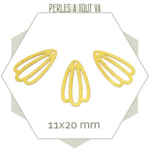 8 breloques pétales dorées mat