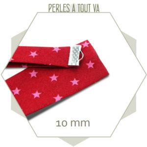 1 m de biais rouge à étoiles rose 10 mm