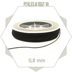 20 m de cordon synthétique 0,8 mm noir