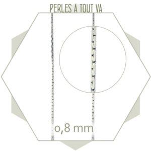 1 m de chaîne serpent 0,8 mm argent, chaîne pour perles