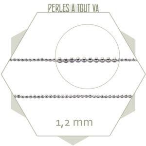 1 m de chaîne billes à facettes argent, matériel pour bijoux Lyon