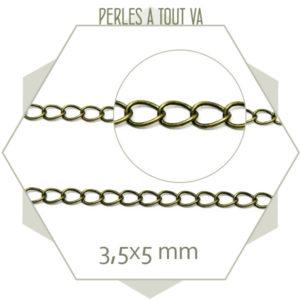 1m chaînette de réglage bronze maillons simples - finition bijoux