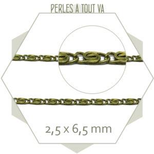 1 m chaîne escargot 2.5 mm bronze