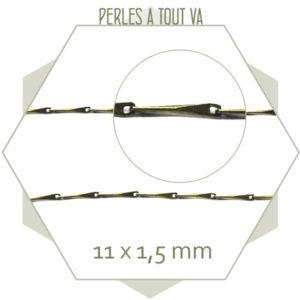 1m de fine chaîne barre bronze, matériel pour bijoux fantaisies
