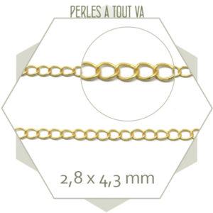 1m chaîne de réglage dorée mat 3x4 mm