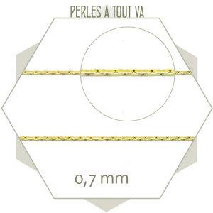 1m chaîne serpent doré clair 0,7 mm