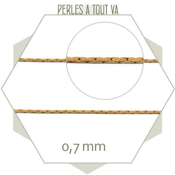 1m chaîne serpent laiton brut 0,7mm, inusable, matériel pour bijou