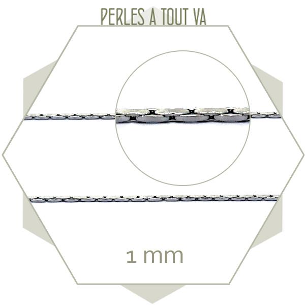 1m de chaîne serpent en acier 1 mm