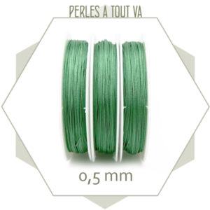 25 m de fil de jade vert 0,5 mm