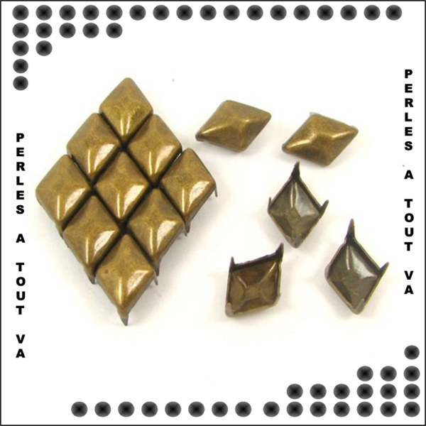 50 clous losanges Bronze 10*5 mm
