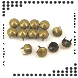 50 clous cônes Bronzes 7mm