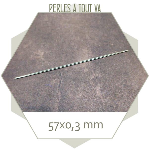 Aiguille pour tissage en acier inox