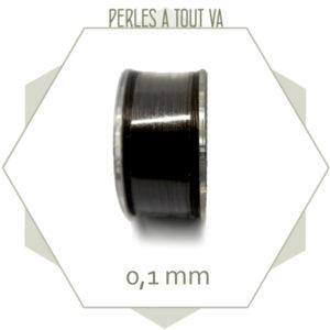 Bobine 45m fil ciré polyester FGB pour tissage, noir