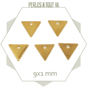 20 triangles laiton brut 9 mm